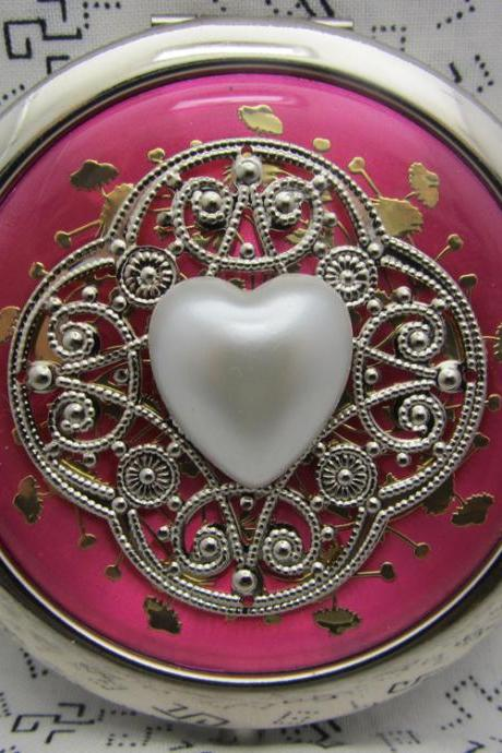 Compact Mirror I Heart You Bridesmaid Gift