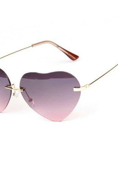 Sweet Love Heart fashion summer Woman Sunglasses