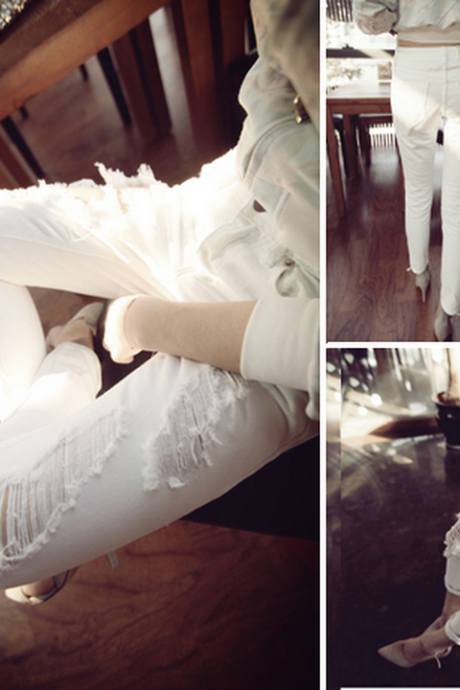 Fashion design white jeans WE22703OP