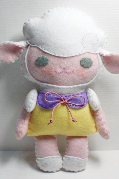 Little Lamb Mia - PDF Doll Pattern