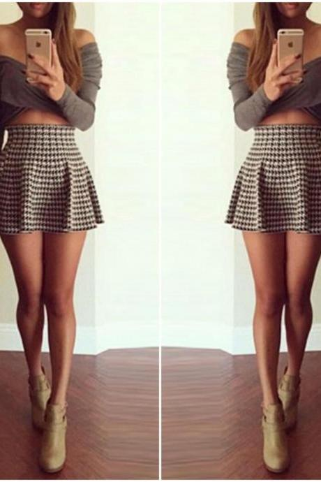 Cute Two Piece A Line Mini Dress