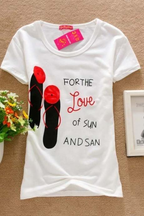 For the Love of sun shirt Tee Girl Top