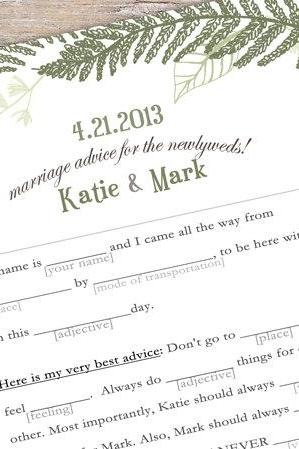 Printable Guestbook Alternative - Mad libs