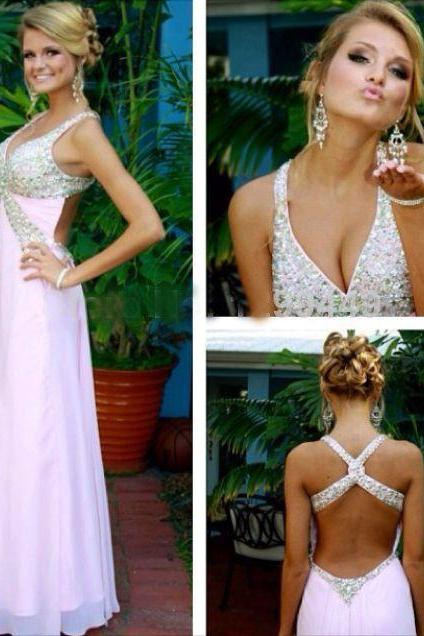 Pd272.2 Charming Prom Dress,Sexy Prom Dress,Beading Prom Dress,Long Evening Dress,Backless Prom Dress