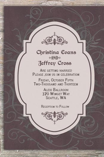 Gothic Invitation - Printable DIY for wedding or event