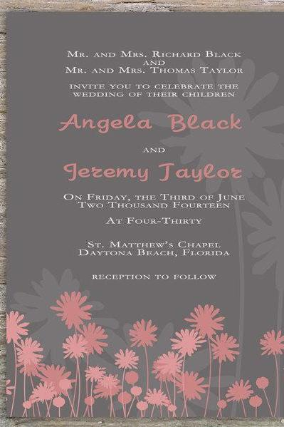 Floral Rustic Invitation -Printable DIY for Wedding or Event
