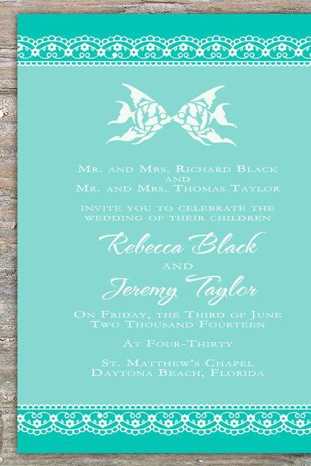Lace Beach Invitation - Printable DIY for Wedding/Event