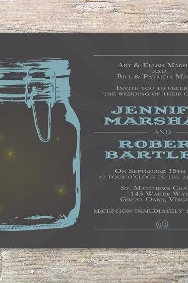 Mason Jar Invitation - Printable for wedding or event