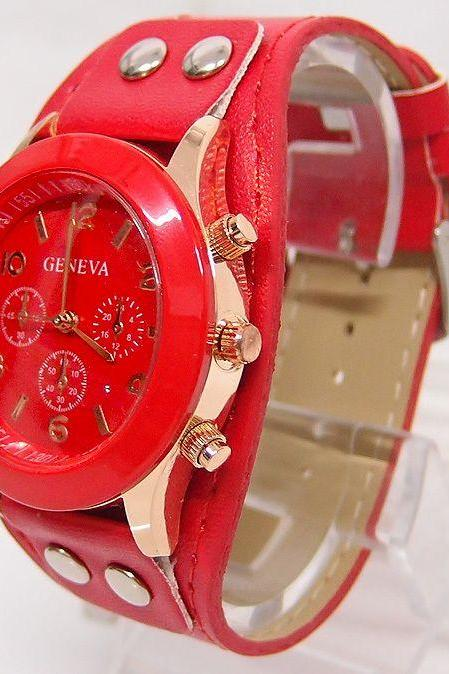 Casual School red Girl Trendy Watch