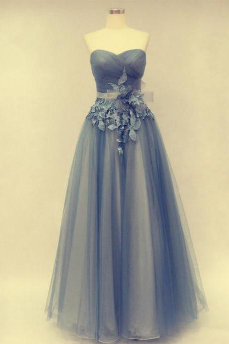 Pd316 A-Line Prom Dress,Prom Dress with Flowers,Tulle Prom Dress,Sweetheart Prom Dress