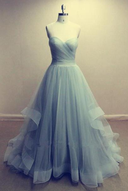 Pd317 Charming Prom Dress,Tulle Prom Dress,Strapless Prom Dress,A-Line Prom Dress,Long Prom Dress,Brief Prom Dress