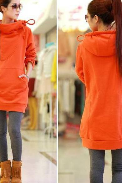 New Women's Super Stylish Warm Long Coat Jacket Overcoat Hoodie Hotsale