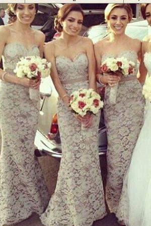 Long Lace Bridesmaid Dresse, Evening Dress, Party Dress