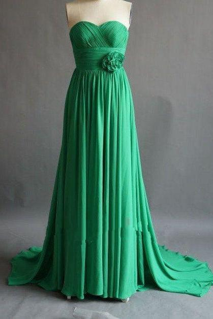 Pretty Green Simple and Elegant Prom Gown 2015, Simple Prom Dresses 2015, Bridesmaid Dresses, Formal Gown