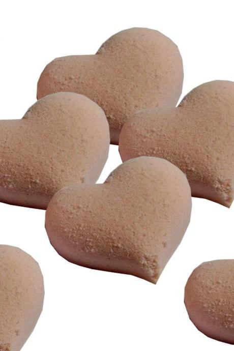 Pink Bath Bomb Hearts Set of 6
