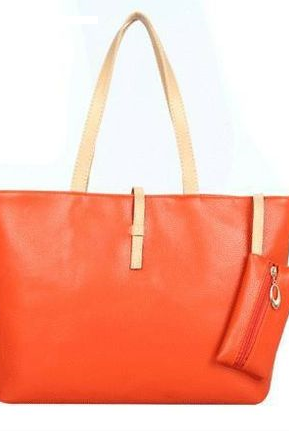 New Casual orange Everyday Fashion Woman Handbag