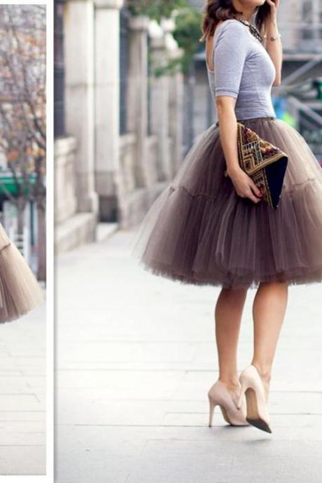 S-6Fashion Skirt,Tulle Skirt,Charming Women Skirt,spring Autumn Skirt