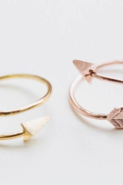 Thick Arrow Ring/unique Ring/adjustable Ring/knuckle Ring/stretch Ring/men Ring/cool Ring/couple Ring/cute Ring/fun Ring/bow Ring R021N