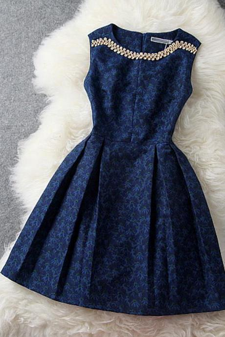 2015 New Style Short Blue Prom Dresses, Summer Dresses