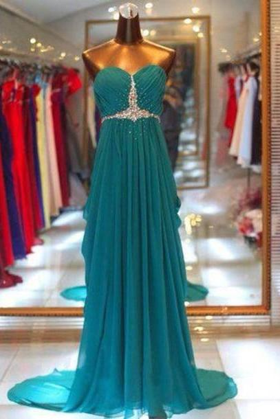 Pd364 Sweetheart Prom Dress,A-Line Prom Dress,Chiffon Prom Dress,Sequined Prom Dress