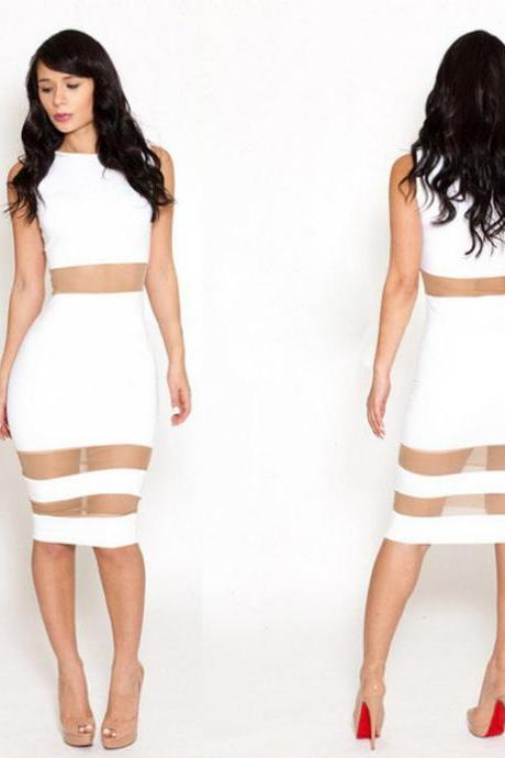 Sexy Party Nightclubs Bodycon Package Hip Gauze Patchwork Stunning Formal Dress Bandage Dress
