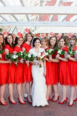 Red Sort Bridesmaid Dress 2016