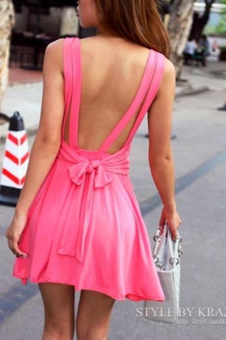 Backless High-Waisted Dresses