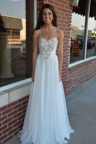 Ed347 Charming Prom Dress,Beading Prom Dress,A-Line Prom Dress,Chiffon Prom Dress,Long Prom Dress