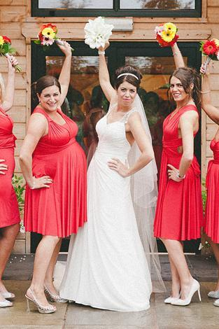 Red chiffon bridesmaid dresses sweetheart neck