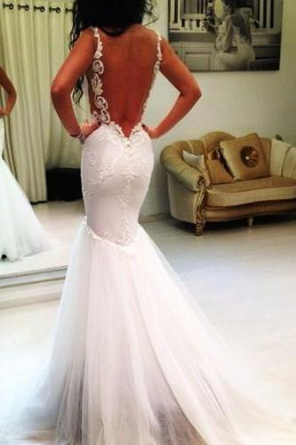 Backless Lace Wedding Dresses on Luulla