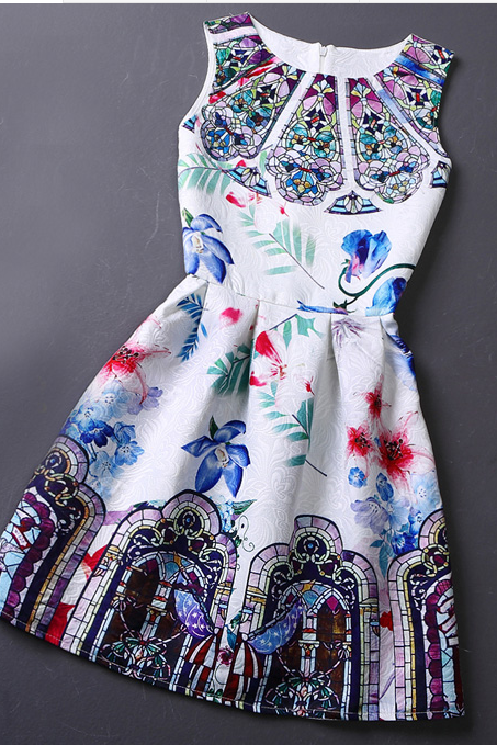 In The Spring Of 2015 The New Printing Cultivate One's Morality Show Thin Vest Skirt Restoring Ancient Ways 24