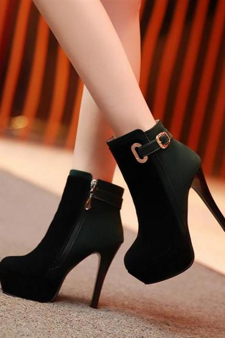 Spell Color High-Heeled Boots