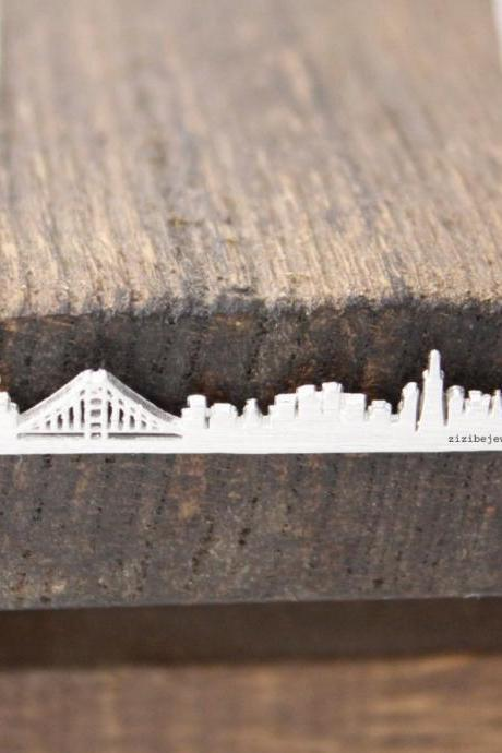 Cityscape Necklace, Skyline Necklace- San Francisco Necklace in 3 colors, N0460K