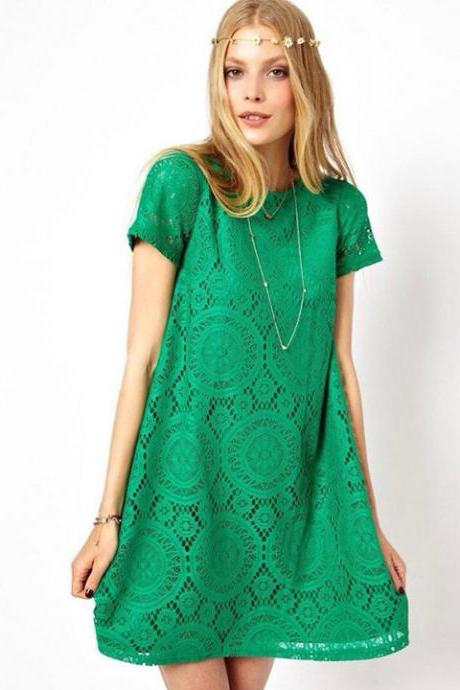Short Sleeve European Style Dress