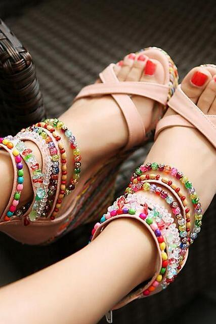 Summer Fashion Sandals Beaded High-Heeled Sandals Ss05233Sh ZYBTZZPSGS6B57LPG9PC2