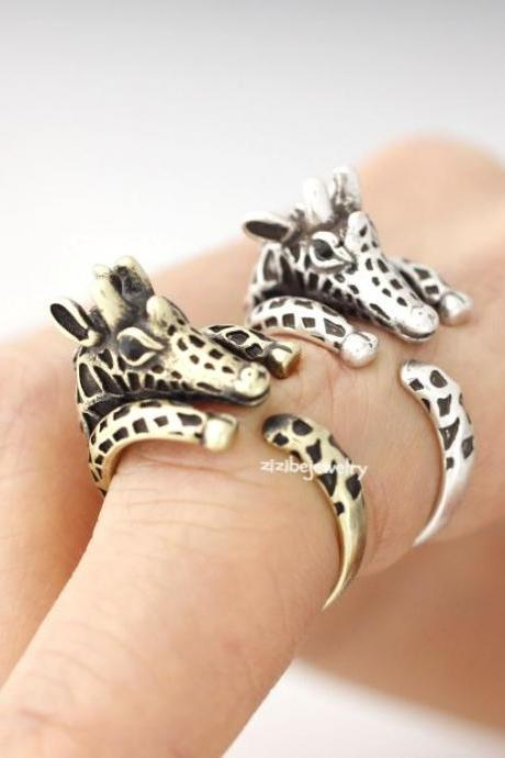 Cute Baby Giraffe Adjustable Wrap Ring