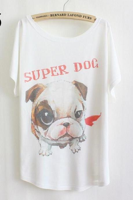 Super dog best friend Summer Top Girl Tee
