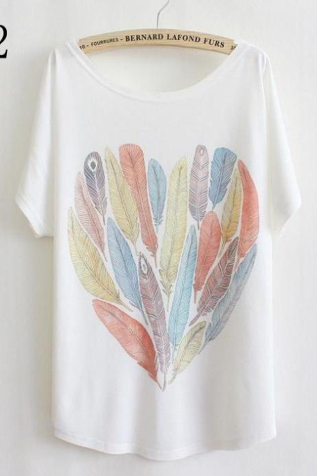 Heart from leaves Gift Summer Top Girl Tee