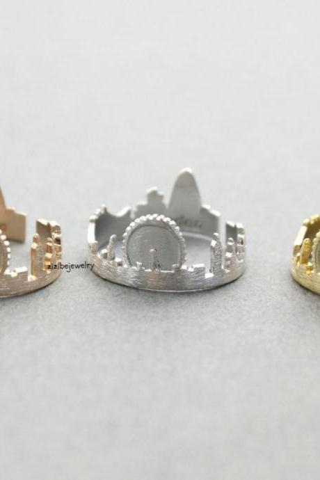 Cityscape Ring, Skyline ring- London, adjustable ring in 3 colors- Adjustable Ring(925 sterling silver / plated over Brass), R0321K