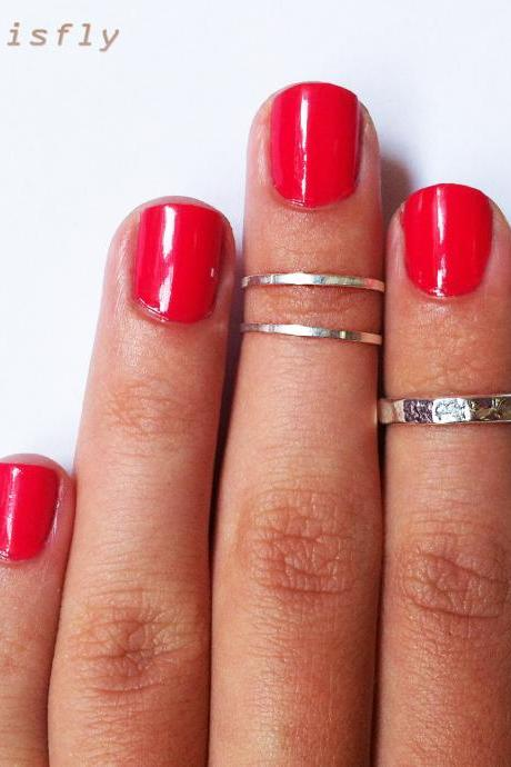 Z Combo Knuckle Rings - Classic Silver Combo