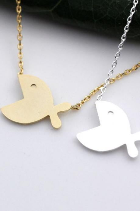 Cute Big Mouth Fish necklace in 2 colors