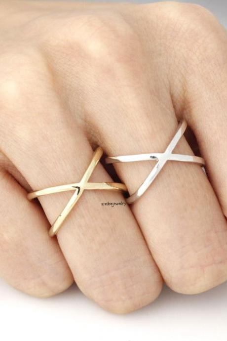 Wide X Band Infinity Ring in 3 Colors