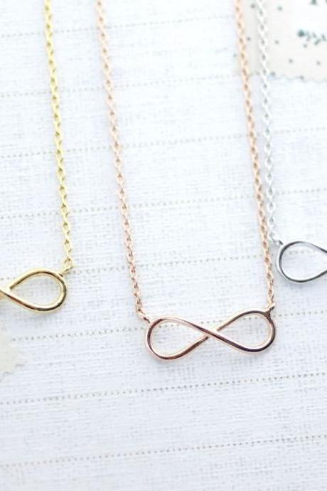 Infinity necklace in gold / silver / rose gold, N0085K