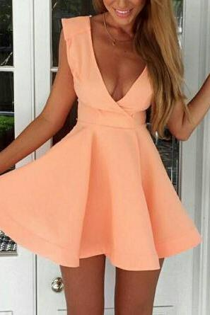 Slim Sweet Sleeveless Pink Dress AX7