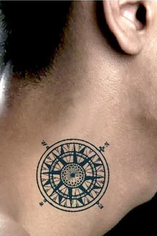 4Pcs Compass Waterproof Tattoo Stickers