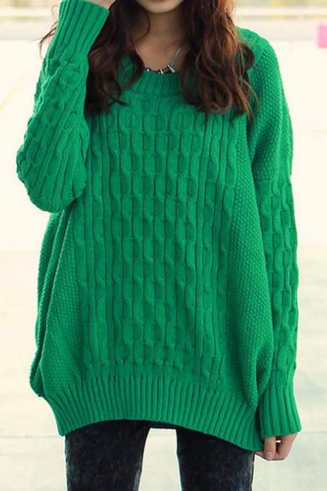 Simple Loose Knitted Pure Sweater&Cardigan