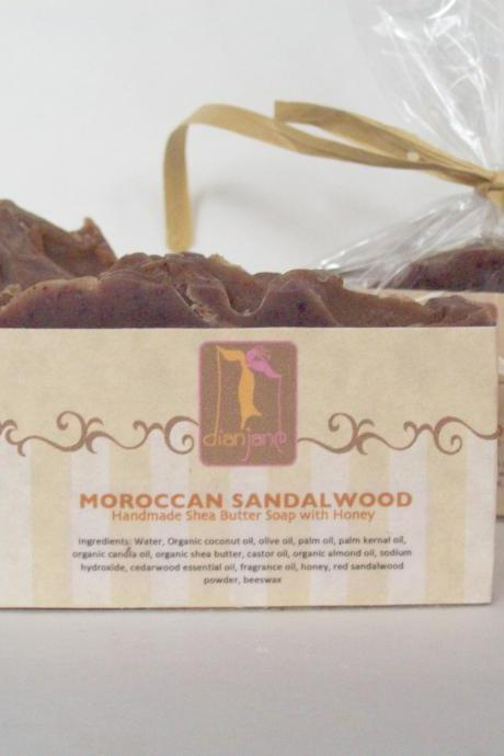 Moroccan Sandalwood Shea Butter Soap with Honey and Coconut Milk 5oz