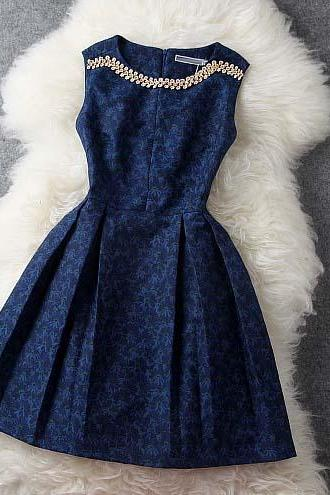 Dark Blue Dress