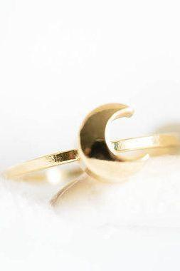 Crescent Moon Ring Silver Moon Ring Sailor Moon Ring Crescent moon Jewelry