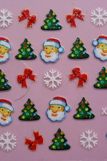 3D Christmas Decal designs for crafting projects